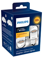 Светодиодные лампы Лампа Philips LED WY21W X-tremeUltinon gen2 Amber 12/24V W3x16d and SmartCANbus 11065XUAXM
