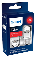 Светодиодные лампы Лампа Philips LED T20 (W21/5W) X-treamUltinon gen2 Red 12/24V W3x16q 11066XURX2