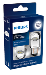 Светодиодные лампы Лампа Philips LED T20 (W21/5W) X-treamUltinon gen2 White 12/24V W3x16q 11066XUWX2