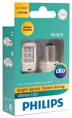 Светодиодные лампы Лампа Philips LED PY21W Ultinon Amber 12V BAU15s 11498ULAX2 and smartCANbus