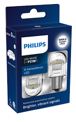 Светодиодные лампы Лампа Philips LED P21W X-tremeUltinon gen2 White 12/24V BA15s 11498XUWX2