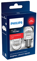 Светодиодные лампы Лампа Philips LED P21/5W X-tremeUltinon gen2 Red 12/24V BAY15d 11499XURX2