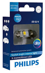 Светодиодные лампы Лампа Philips LED Festoon 43mm X-treamUltinon 4000K 12V SV8.5-8 129454000KX1