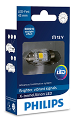 Светодиодные лампы Лампа Philips LED Festoon 43mm X-treamUltinon 6000K 12V SV8.5-8 129466000KX1