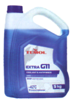 Антифризы Temol Antifreeze extra G11 BLUE