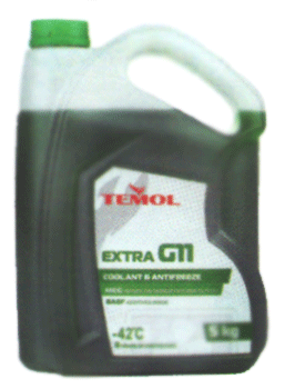 Антифризы Temol Antifreeze extra G11 GREEN