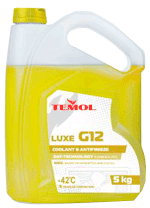 Антифризы Temol Antifreeze luxe G12 YELLOW